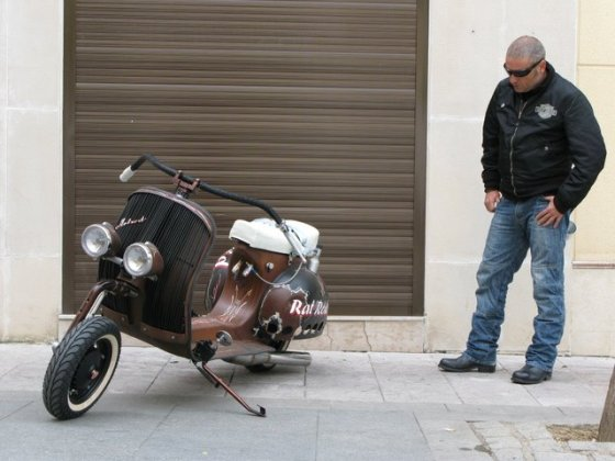 Rat Rod Vespa