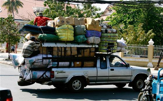stuff in truck