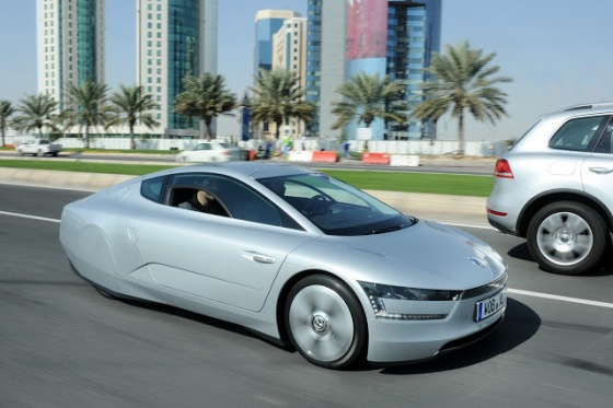 Volkswagen XL1 on the road