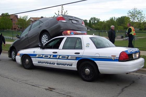 cop car crash #1