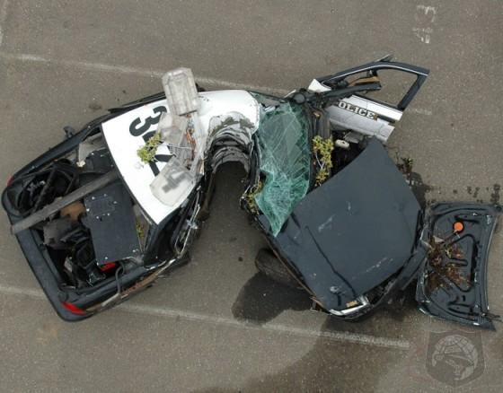 Police car crash #1